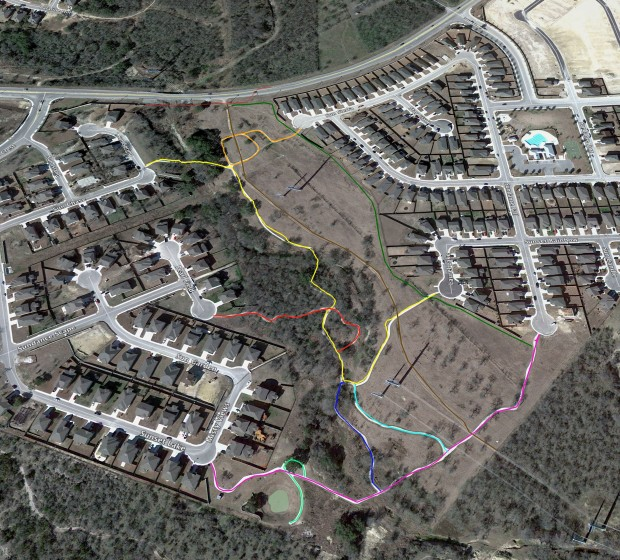 Sundance HOA Trails System Map