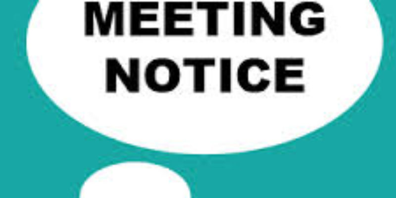 RESCHEDULED: August Board of Directors Meeting